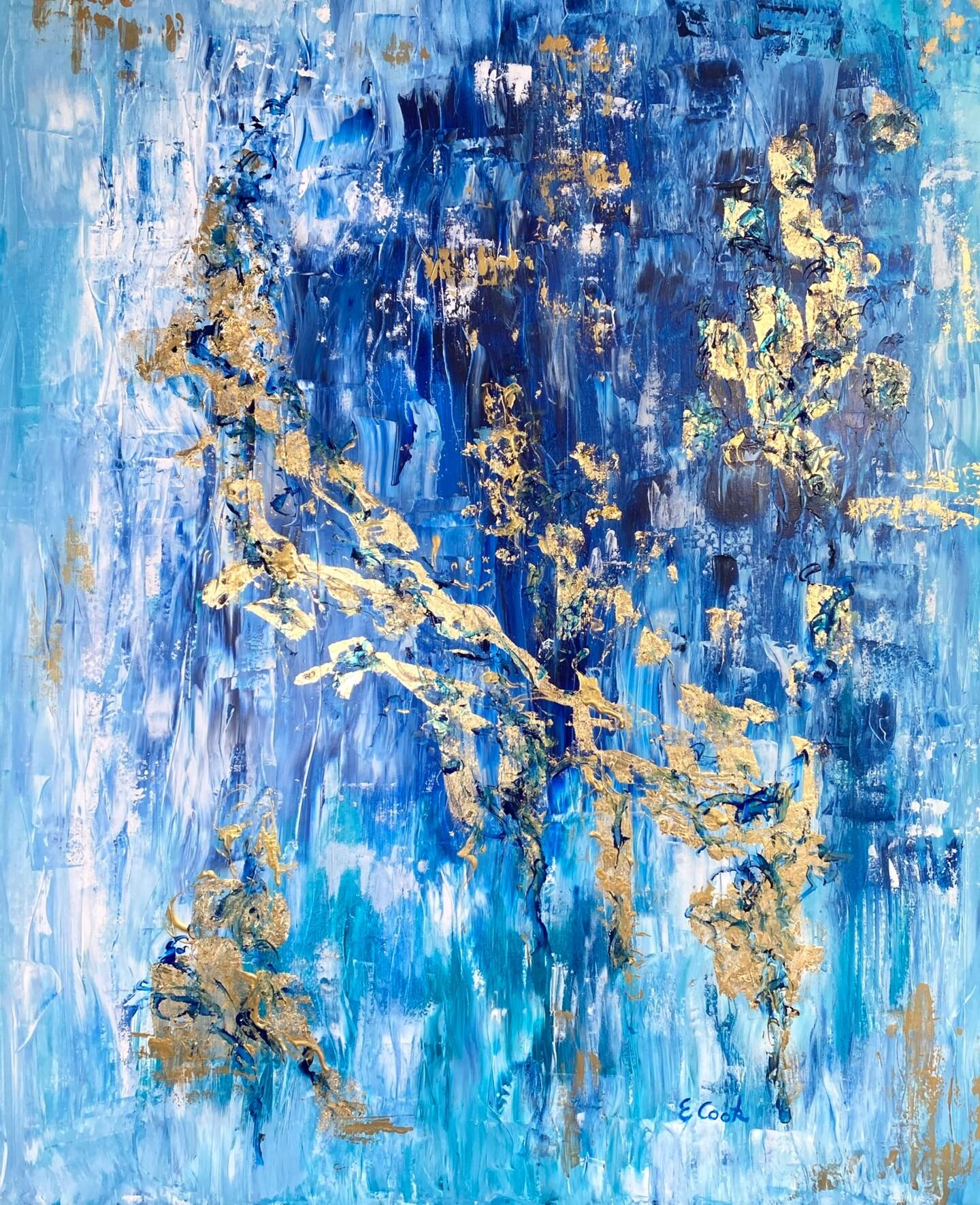 Elisa Cook - Gold Slivers on Blue Hues