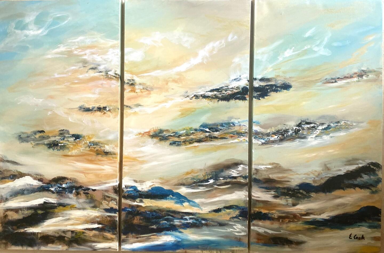 Elisa Cook - Mystic Depths (triptych)